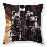 Ghosts Of Industy Past Throw Pillow