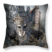 Ghosts Of Mardi Gras Past Throw Pillow