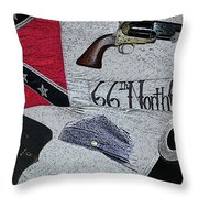 Ghosts Of The Confederacy Throw Pillow