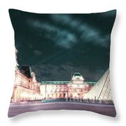 Ghosts Of The Louvre Museum 2  Art Throw Pillow