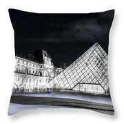 Ghosts Of The Louvre Museum  Art Throw Pillow