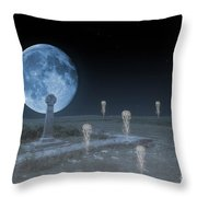 Ghosts On The Common Throw Pillow