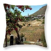 Ghosts Path To A Ghost Town Virginia City Nv Throw Pillow