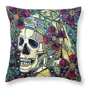 Ghoul With A Pearl Earring Throw Pillow