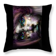 Ghoulish Throw Pillow by Brittany Perez