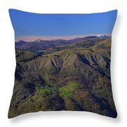 Giacopiane Lake And Aveto Park Mountains  Throw Pillow