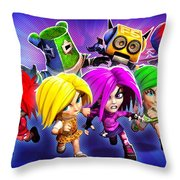 Giana Sisters Dream Runners Throw Pillow