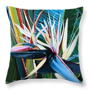 Giant Bird Of Paradise Throw Pillow