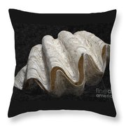 Giant Clam Throw Pillow
