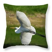 Giant Egret Grace Throw Pillow