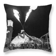 Giant Flamethrowing Praying Mantis Throw Pillow