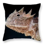 Giant Horned Lizard Throw Pillow