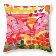 Giant Nutterbutterfly Throw Pillow