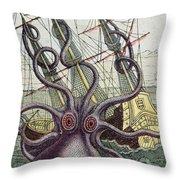 Giant Octopus Throw Pillow