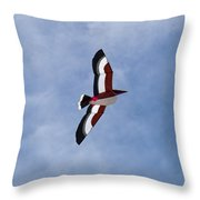 Giant Pelican Searching For Prey Throw Pillow