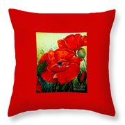 Giant Poppies 3 Throw Pillow