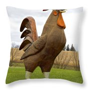 Giant Rooster Throw Pillow