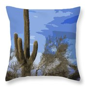 Giant Saguaro Throw Pillow