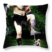 Giant Vs Amazon Throw Pillow