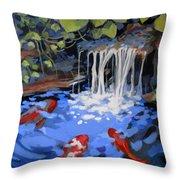 Gibb's Garden Stream Throw Pillow