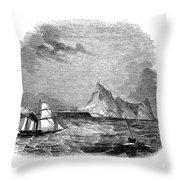 Gibraltar, 1843 Throw Pillow