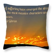 Gibran On The Character Of The Soul Throw Pillow