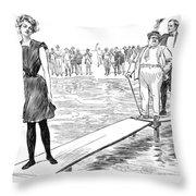 Gibson: Bather, 1900 Throw Pillow