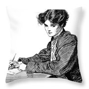 Gibson: Drawings, C1900 Throw Pillow