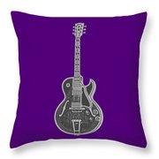 Gibson Es-175 Electric Guitar Tee Throw Pillow