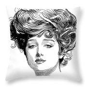 Gibson Girl, 1900 Throw Pillow