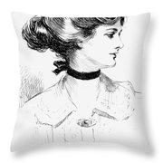 Gibson: Gibson Girl, 1905 Throw Pillow