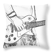 Gibson Les Paul Guitar Sketch Throw Pillow