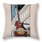 Gibson Les Paul Of The Hard Rock Cafe Throw Pillow