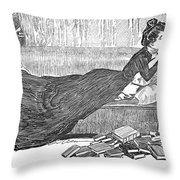 Gibson: Reader, 1900 Throw Pillow