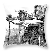 Gibson: Typing Throw Pillow