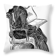 Gibson: Woman Reading Throw Pillow