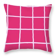 Griddy In Pink Throw Pillow