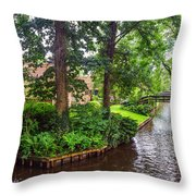 Giethoorn Greenery And Bridges. Venice Of The North Throw Pillow