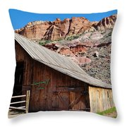 Gifford Homestead Capitol Reef National Park Throw Pillow