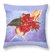 Gift A Bouquet - Bougenvillea Throw Pillow