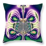 Gift Bows Fractal Abstract Throw Pillow