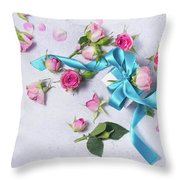 Gift And Flowers Throw Pillow