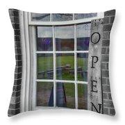 Gift Shop Window Throw Pillow