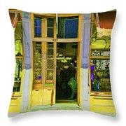 Gift Shop Windows Throw Pillow