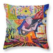 Gifted Guitar Man Throw Pillow