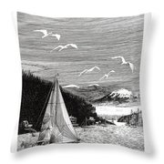 Gig Harbor Sailing School Throw Pillow