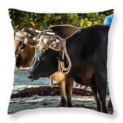 Gigantic Ox Throw Pillow