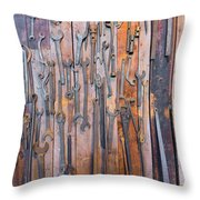 Gigantic Wrenches Throw Pillow