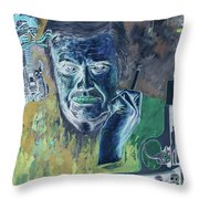 Giger Gun Throw Pillow