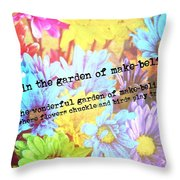 Giggle Patch Quote Throw Pillow
